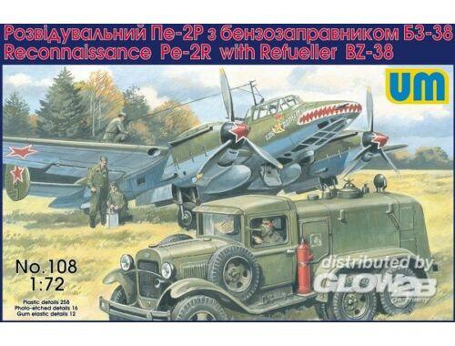 Unimodel Pe-2R reconn. aircraft w. ref. BZ-38 1:72 (108)