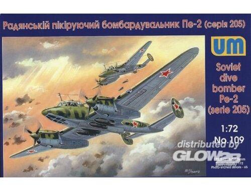 Unimodel Dive Bomber Pe-2 (205 series) 1:72 (109)