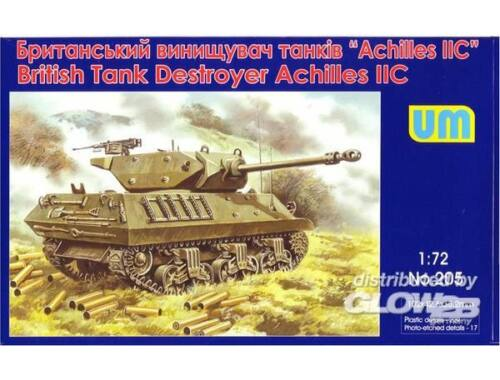 Unimodel Achilles IIC British tank destroyer 1:72 (205)