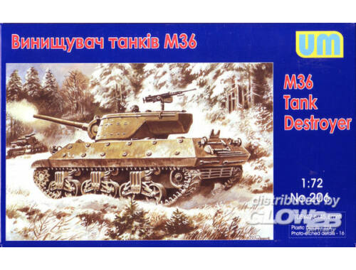 Unimodel M36 tank destroyer 1:72 (206)