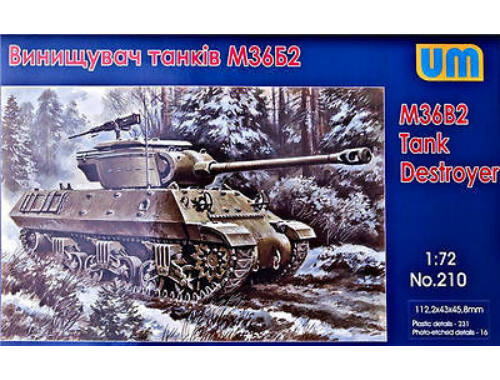 Unimodel M36B2 Tank destroyer 1:72 (210)