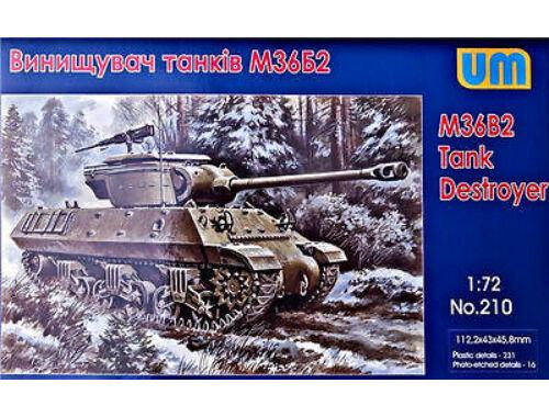 Unimodel M36B2 Tank destroyer 1:72 (210)