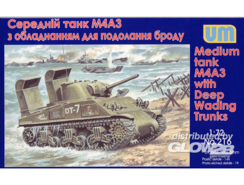 Unimodel Tank M4A3 with Deep Wading Trunks 1:72 (216)