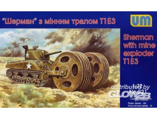 Unimodel Sherman with mine exploder T1E3 1:72 (221)