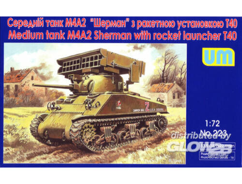 Unimodel Tank M4A2 with T40 rocket launcher 1:72 (223)