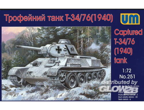 Unimodel T-34/76 Tank with resin parts 1:72 (251)