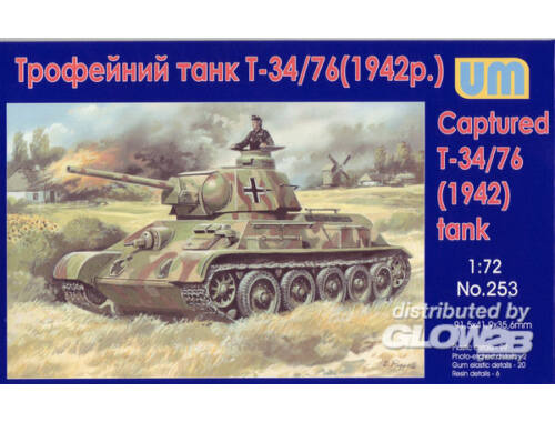 Unimodel T-34-76 WW2 captured tank, 1942 1:72 (253)