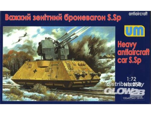 Unimodel Heavy antiaircraft car S.Sp 1:72 (258)