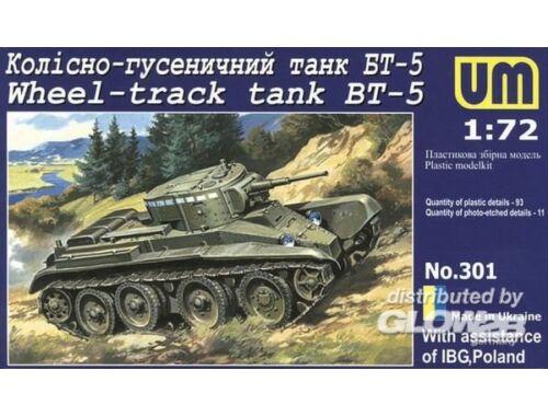 Unimodel Wheel-Track Tank BT-5 1:72 (301)