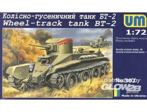 Unimodel Wheel-track Tank BT-2 1:72 (302)