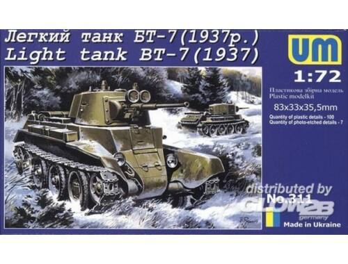 Unimodel Light Tank BT-7 (1937) 1:72 (311)