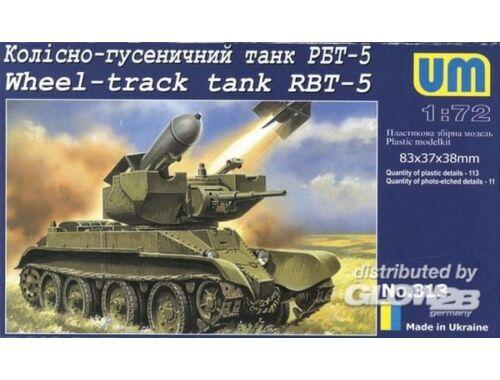 Unimodel Wheel-track Tank RBT-5 1:72 (313)