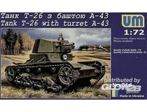 Unimodel Tank T-26 with Tower A-43 1:72 (314)