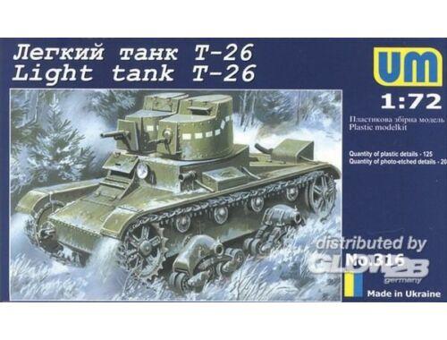 Unimodel Light tank T-26 1:72 (316)