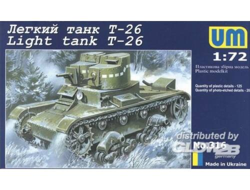 Unimodel Light tank T-26 1:72 (316)