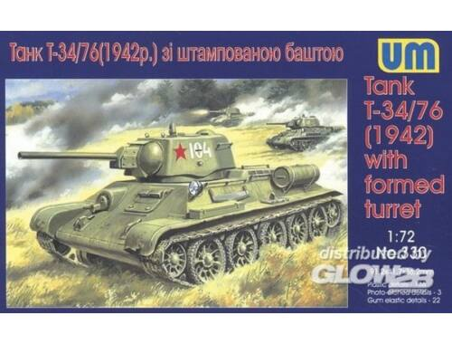 Unimodel Tank T-34/76 (1942) with formed turret 1:72 (330)