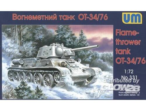 Unimodel OT-34/76 Flamethrower Tank 1:72 (331)