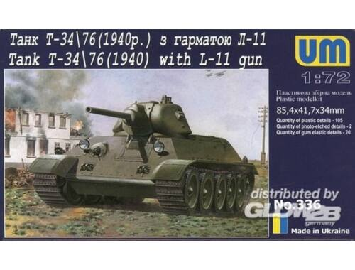 Unimodel T-34/76 with gun L-11 (1940) 1:72 (336)