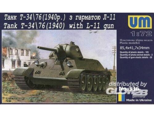 Unimodel T-34/76 with gun L-11 (1940) 1:72 (336)