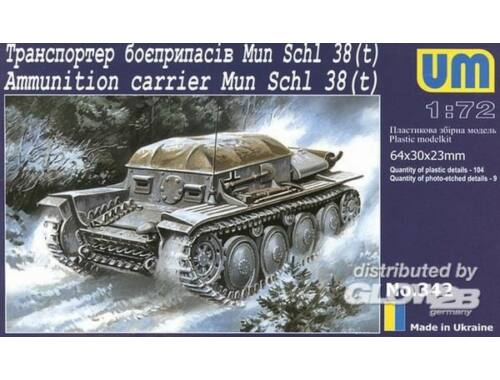 Unimodel Munitions Schlepper 38 (t) 1:72 (342)