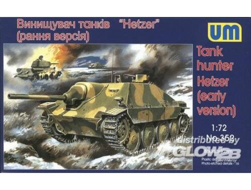 Unimodel Tank hunter Hetzer (early version) 1:72 (352)