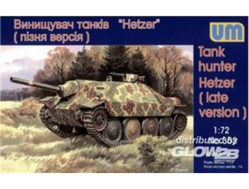 Unimodel Tank Hunter Hetzer (late version) 1:72 (353)
