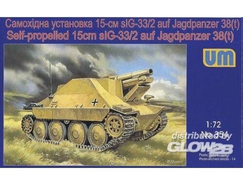 Unimodel Self-propelled 15cm sIG-33/2 auf Jagdpanzer 38(t) 1:72 (354)