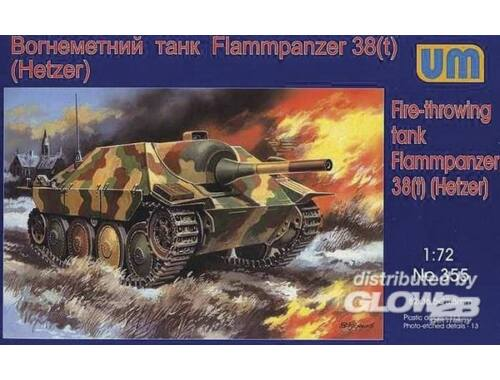 Unimodel Flammpanzer 38(t) Hetzer 1:72 (355)