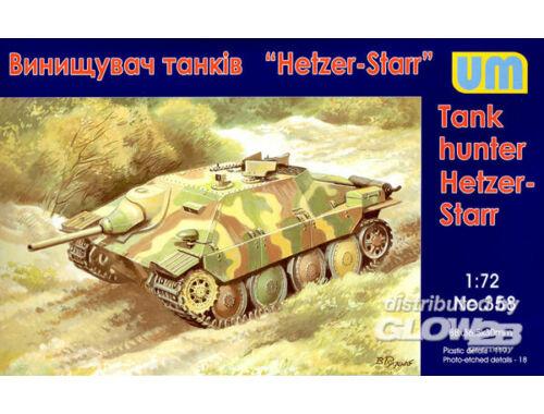Unimodel Hetzer-STARR tank hunter 1:72 (358)