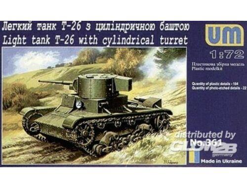 Unimodel T-26 mit Zylinderturm 1:72 (361)