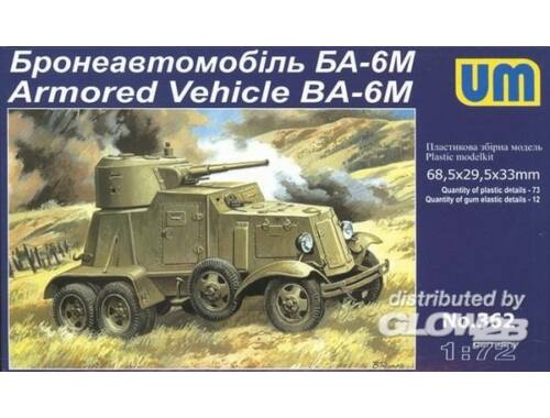 Unimodel BA-6M Armored Vehicle 1:72 (362)