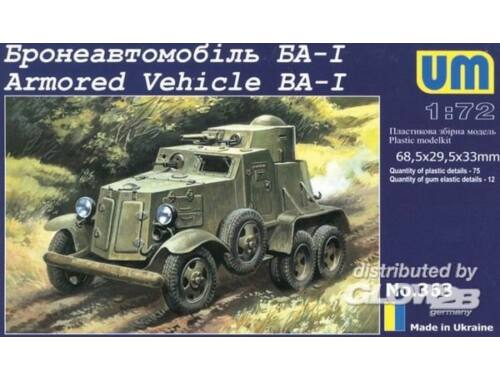 Unimodel BA-I Armored Vehicle 1:72 (363)