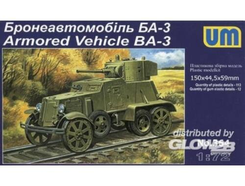 Unimodel Armored Vehicle BA-3 1:72 (364)