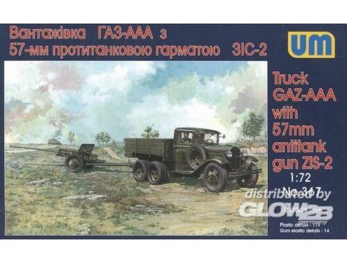 Unimodel GAZ - AAA mit 57 mm ZIS-2 Antitank gun 1:72 (367)
