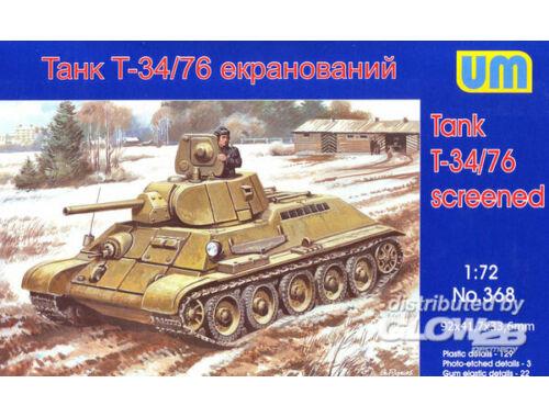Unimodel T34/76-E screened tank 1:72 (368)