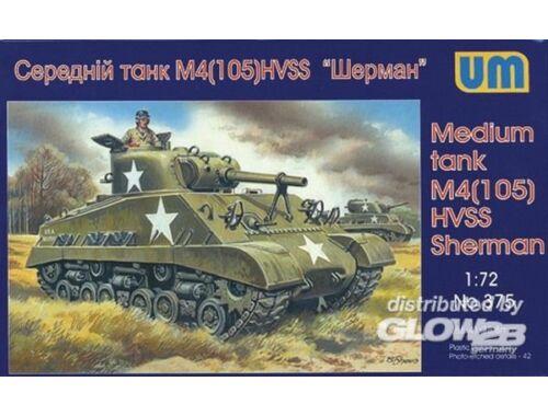 Unimodel Medium tank M4(105) HVSS 1:72 (375)