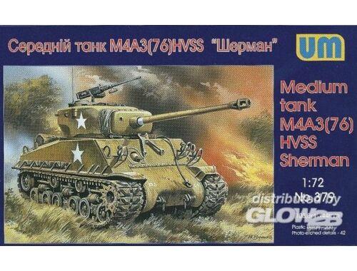 Unimodel Medium tank M4A3(76)W HVSS 1:72 (379)
