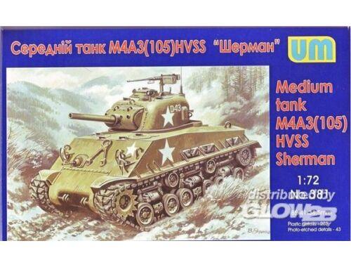 Unimodel Medium tank M4A3(105) HVSS 1:72 (381)