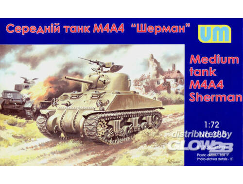 Unimodel M4A4 Sherman medium Tank 1:72 (385)