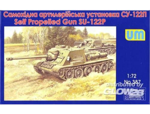 Unimodel SU-122III Soviet self-propelled art. gun 1:72 (387)