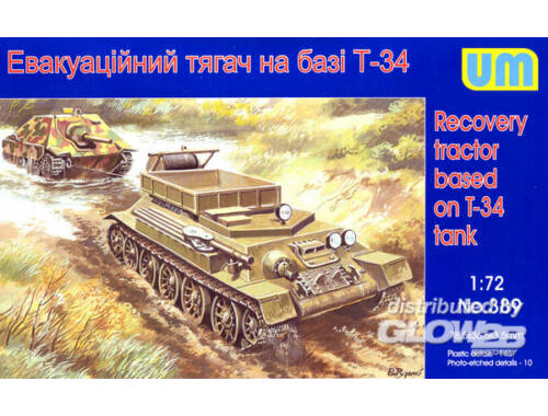 Unimodel Recovery tractor on T-34 basis 1:72 (389)