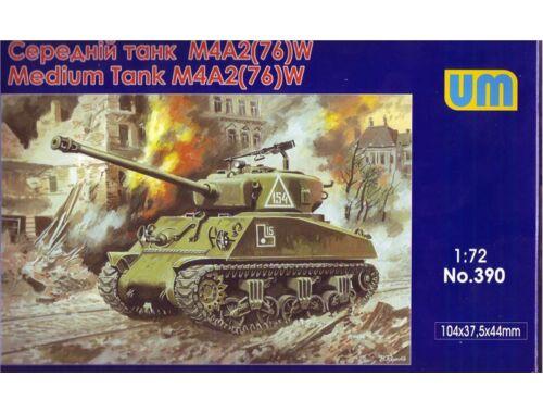 Unimodel M4A2(76)W US medium tank 1:72 (390)