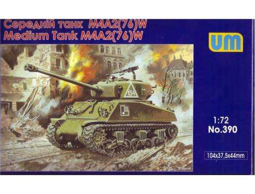 Unimodel M4A2(76)W US medium tank 1:72 (390)
