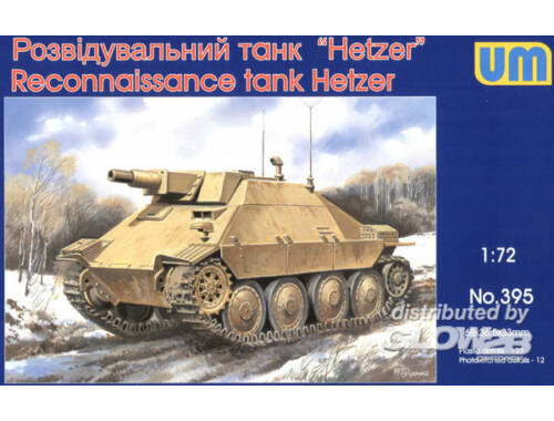 Unimodel Reconnaissance tank Hetzer 1:72 (395)
