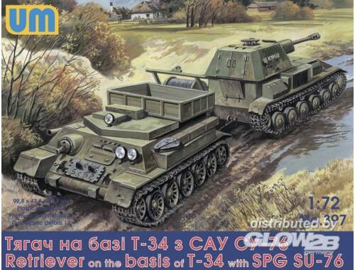 Unimodel Retriever on T-34 basis with SPG Su-76 1:72 (397)