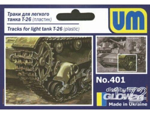 Unimodel Ketten für Light Tank T-26 1:72 (401)