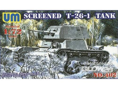 Unimodel Screened T-26-1 tank 1:72 (402T)