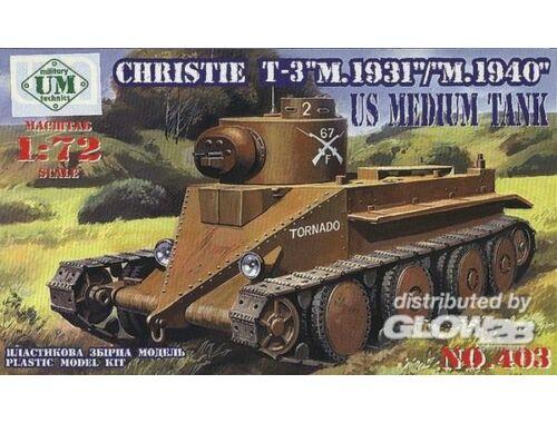 Unimodel Christie T-3 M.1931/M.1940 1:72 (403)