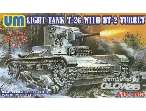 Unimodel T-26 mit BT-2 Turret 1:72 (405)