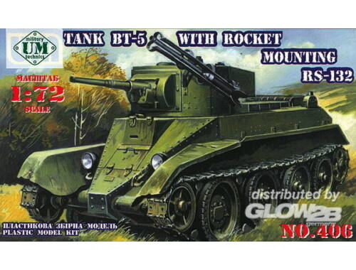 Unimodel Tank BT-5 with rocket mounting RS-132 1:72 (406)